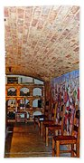 Wine Tasting Room In Castello Di Amorosa In Napa Valley-ca Beach Towel