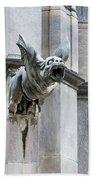 Winged Gargoyle Duomo Di Milano Italia Beach Towel