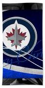 Winnipeg Jets Christmas Beach Towel