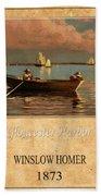 Winslow Homer 1 Beach Towel
