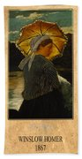 Winslow Homer 6 Beach Towel