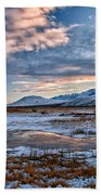Winter Afternoon Beach Towel