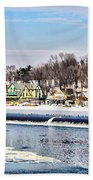 Winter At Boathouse Row In Philadelphia Beach Towel