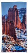 Winter At Fisher Towers Beach Towel