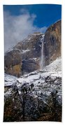 Winter At Yosemite Falls Beach Towel by Bill Gallagher