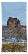 Winter Banded Butte Beach Towel