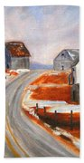 Winter Barns Beach Towel