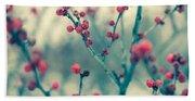 Winter Berries Beach Sheet