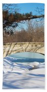 Winter Bridge Beach Towel