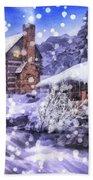 Winter Creek Beach Towel