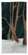 Winter Deer Beach Towel