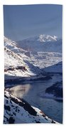 612702-winter Desert River, Ut Beach Towel