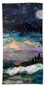 Winter Eclipse Beach Towel