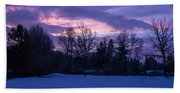 Winter Evening In Grants Pass Beach Towel
