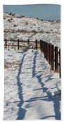 Winter Fence Beach Towel