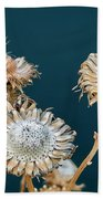 Winter Flowers Beach Towel