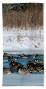 Winter Geese - 02 Beach Towel