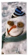 Winter - I'm Ready For My Closeup Beach Towel by Mike Savad