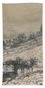 Winter In Giverny Beach Towel