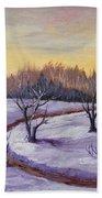 Winter In Vermont Beach Towel by Anastasiya Malakhova