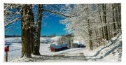 Winter In Vermont Beach Towel