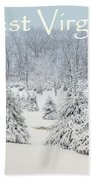 Winter In West Virginia Beach Towel by Benanne Stiens