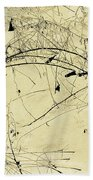 Winter Ink Beach Towel