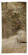 Winter Lane Beach Towel