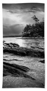 Winter Moonlight Wolfes Neck Woods Maine Beach Towel