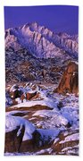 Winter Morning Alabama Hills And Eastern Sierras Beach Towel