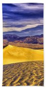 Winter Morning At Death Valley Beach Towel