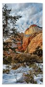 Winter Morning In Zion Beach Towel