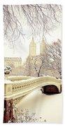 Winter - New York City - Central Park Beach Towel by Vivienne Gucwa