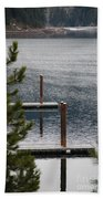 Winter On Lake Coeur D' Alene Beach Towel