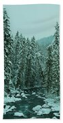 Winter On The American River Beach Towel