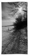 Winter On The Beach  Beach Towel