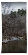 Winter On The Eno River At Fews Ford Beach Towel