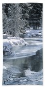 Winter On The Firehole River - Yellowstone National Park Beach Towel by Sandra Bronstein