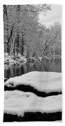 Winter On The Wissahickon Creek Beach Towel