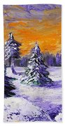 Winter Outlook Beach Towel