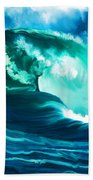 Winter Pacific Surf Beach Towel