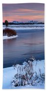 Winter Quiet And Colorful Beach Towel