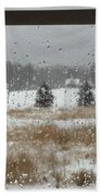 Winter Rain  Beach Towel