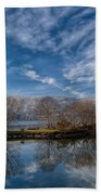Winter Reflections Beach Towel by Adrian Evans