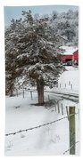 Winter Road Beach Towel by Bill Wakeley