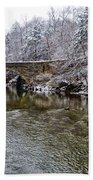 Winter Scene At Valley Green Beach Towel