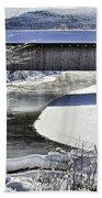 Winter Scene In Montgomery Beach Sheet