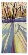 Winter Shadows Beach Sheet