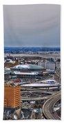 Winter Skyway Downtown Buffalo Ny Beach Towel
