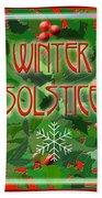 Winter Solstice Beach Sheet